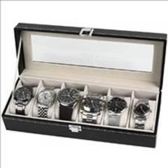 ★即日発送★ 腕時計 収納ケース ボックス レザー調 6本用