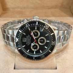 最安値大特価!ロレックスデイトナタイプ♪メンズ腕時計ブラック黒枠×銀