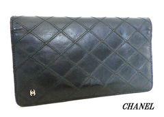 ◆シャネル CHANEL 長財布 黒 e436