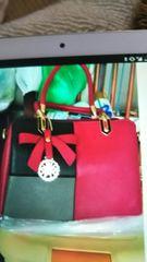 新品ツートンカラーショルダーハンドバッグ