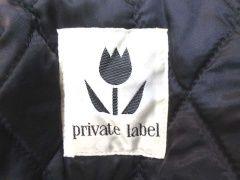 Private labelプライベートレーベル 牛革レザースリーブスタジャン/ジャケットM黒