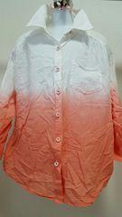 七分袖グラデーションシャツ☆Mサイズ