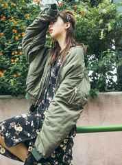 新品◆グレイル◆藤田ニコル着ウエストリボン花柄ワンピース黒