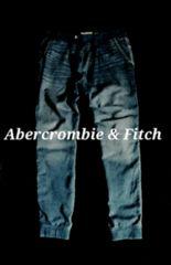 【Abercrombie&Fitch】アバクロ Vintage Denim スウェットジョガーデニム L