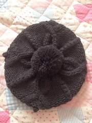 ビケット 女の子 ニットベレー帽 50〜54cm ナチュラル系
