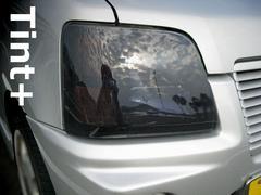 Tint+何度も使えるMCワゴンR RRヘッドライト スモークフィルム