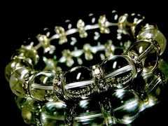天然水晶§クリスタルクォーツ§12ミリ§銀ロンデル