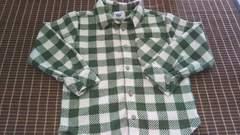 フリース素材シャツ120cm