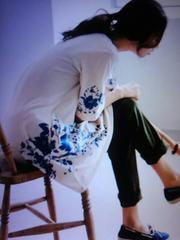 ●アンティーク花模様ワンピース●新品