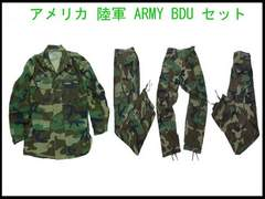 USAミリタリーBDUセット カモー 本物 陸軍 USED ARMY BDU 9/10 ヴェンテージ