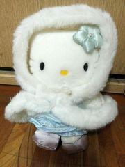 美品 NTT キティちゃん ぬいぐるみ 冬服 kitty サンリオ