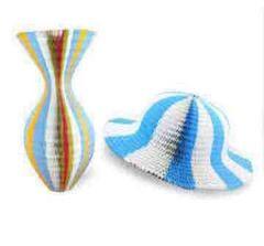 花瓶が帽子に変化する!紙製帽子!手品