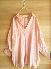 未使用LOWRYS FARM*肩開きシャツ*定価4212円*ローリーズファーム