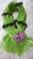 B37新品〓手編みミニマフラー