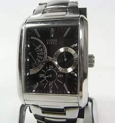 ◆本物確実正規GUESS (ゲス) メンズクロノグラフ腕時計