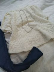 鍵編み模様かわいいタオルのようなニットソー*・°