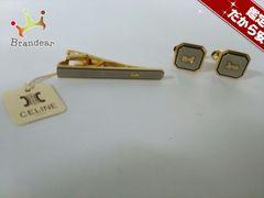 セリーヌ アクセサリー 美品 金属素材 ゴールド×黒×シルバー