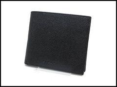 BVLGARI ブルガリ クラシコ レザー メンズ 二つ折り財布 黒 美品