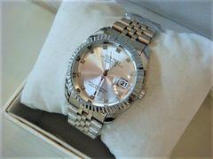 新作希少◆ジルコニアデザインロレックスデイトジャストTYPE 高級Club face腕時計