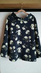 アースミュージック&エコロジー■大人気花柄フレアースカート■新品未使用■ネイビー