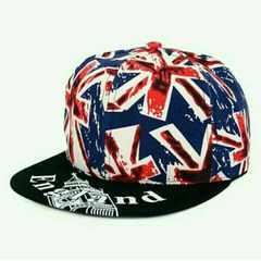 英国デザイン イギリスモチーフ  平らつば 帽子 ユニセックス