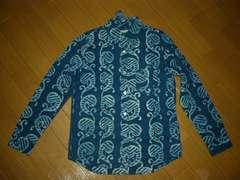 新品ガイジン メイドGAIJIN MADEインディゴ染めシャツS和柄