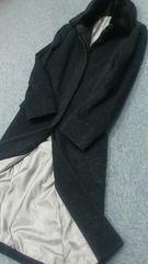 正規ランバンコレクションミンク襟上質ロングコート美品◎高級感◎