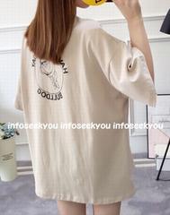 LL3L大きいサイズ/バック犬ロゴTシャツ