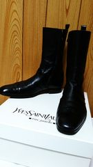 正規美 Yves Saint Laurentイヴサンローラン YSL ジョニーロングブーツ黒 40 25