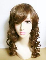 新品★高熱系フルウィッグ カールロング 巻き髪 ハニーブラウン
