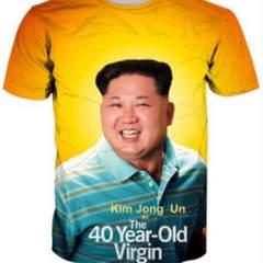 極貴重 新品 北朝鮮金正恩委員長素敵な笑顔Tシャツ