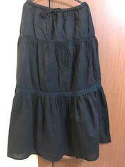黒のlongフレアスカート  Lサイズ