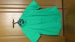 激安80%オフ今期Polo、ラルフローレン、半袖シャツ(新品タグ、緑、メンズM位)