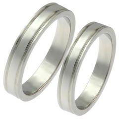 指輪2本名入れ刻印ダブルラインペアリング