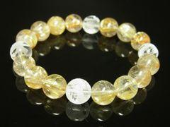 素彫四神獣本水晶×タイチンルチルブレスレット 最強金運10mm数珠