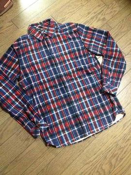 美品MOTEL デザインチェックシャツ 日本製 モーテル