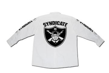 SYNDICATE★OG長袖ワークシャツ★M★白★新品