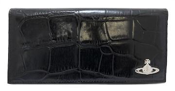 未使用ヴィヴィアンウエストウッド長財布クロコ型押しレサ