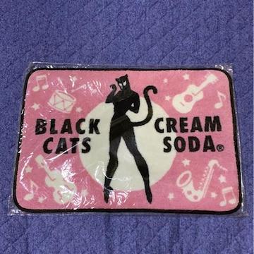 フロアーマット CS新品 クリームソーダ ピンクドラゴン 黒猫