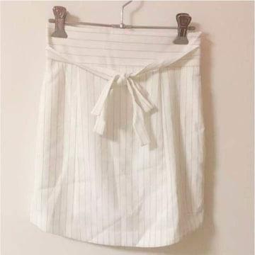 luxeroseリュクスローズ白 ストライプスカート