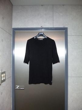 美品〓トルネードマート〓五分袖カットソー〓黒/M〓TORNADO MART