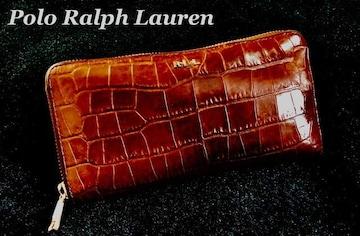 【Polo Ralph Lauren】ラウンドファスナー レザー 長財布/Brown