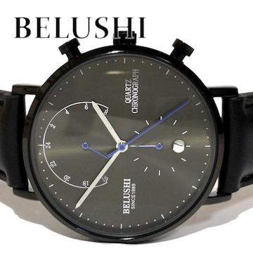 【新品・未使用】BELUSHI【クロノグラフ】モダン メンズ腕時計