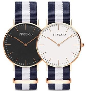 ★送料無料★ かわいい 2本セット ペア腕時計 シンプル
