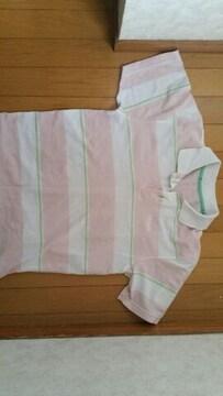 ピンクの半袖ポロシャツ【Mサイズ】