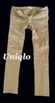 【UNIQLO】ユニクロ ストレッチスリムフィットジーンズ 34/Beige