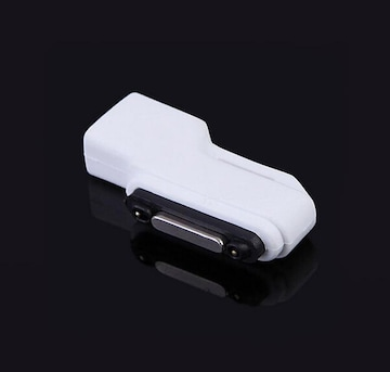 SONY Xperia マグネット 充電 MicroUSB 変換アダプタ ホワイト