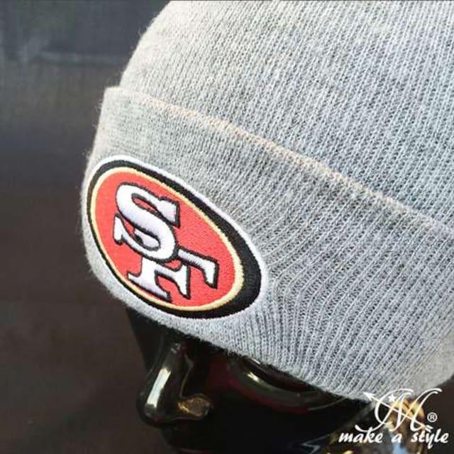 NFL サンフランシスコ 49ers ニットキャップ ビーニー グレー335 < 男性ファッションの