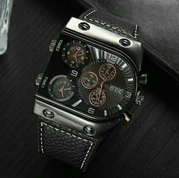 新品 デュアルタイプggg アウトドア 腕時計メンズ 腕時計 黒