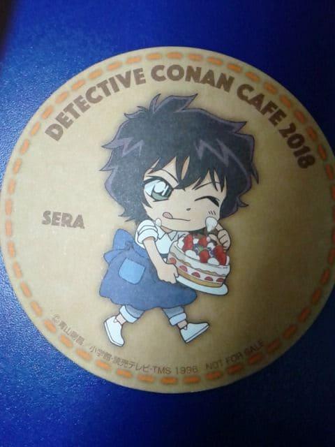 名探偵コナンカフェ2018限定非売品コースター世良真純ゼロの執行人  < アニメ/コミック/キャラクターの